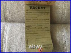 Vintage WWII Emergency Medical Tag Booklet US Navy 1944-RARE
