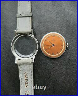 Vintage WWII era Omega 30SCT1 All Original Watch 1940 Rare Two Tone Bicolor Dial