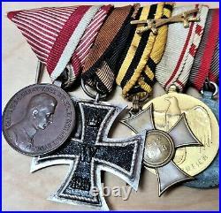 Vintage rare WW1 & WW2 Austria-Hungary set of 10 military medals