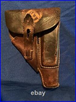 WW II WW2 SA GERMAN HOLSTER FOR WALTHER PPK SA RARE! ESTATE FIND Bringback