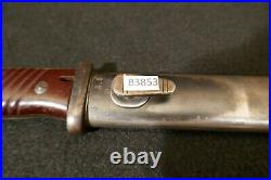 WW2 German Army S84/98 Austrian Made Bayonet'bym' Code & Mismatch Scabbard RARE