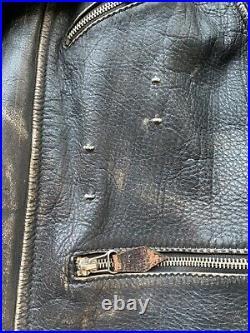WW2 German Luftwaffe Leather Flight Jacket with Shoulder Straps, rare
