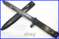 WW2 M1938 Italian Carcano Folding Knife Bayonet Scabbard Rare Pugnale Baionetta
