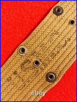 WW2 RARE! USMC Pistol Belt M1936 (S. FROEHLICH 1942) Unissued NOS Near Mint+++