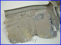 WW2 Rare Luftwaffe Heinkel He111 Skin Section With Ground Anchoring Point Relic