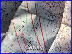WW2 US ARMY USMC USN Pilot SILK MAP No. 34 & No. 35 CHINA! WWII RARE USGI