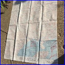WW2 US ARMY WWII SILK MAP No. 32 & No. 33 INDO CHINA! Vietnam WWII RARE USGI