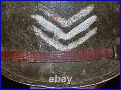 WW2 US Army CBI T/5 Helmet M1 Fixed Bail Front Seam 1944 Firestone Liner RARE