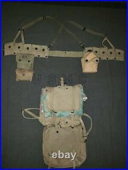 WW2 USMC 782 Gear BOYT 1944 dated ALL ORIGINALS Rare items