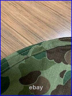 WW2 USMC Pattern 1942 HBT Camo Helmet Cover-1st Pattern-Original / RARE / NOS