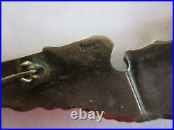 WWII 1942 Glider Pilot Wings Pin 3 Beverlycraft full size sterling RARE Maker