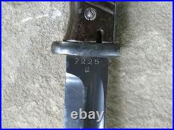 WWII GERMAN K98 41asw BAYONET with MATCHING SHEATH & RARE PAPER FROG