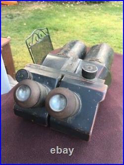 WWII German D. F. 10X80 DKL Flak Artillery Binoculars Rare and complete