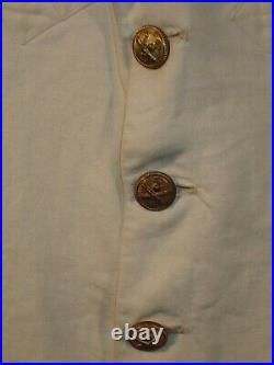 WWII Italian Army Artillery Colonel Summer Dress White Uniform & 5 Ribbons RARE