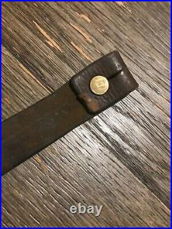 WWII Japanese Arisaka Type 99 Leather Sling Rare! Excellent Condition Supple