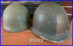 WWII McCord M1 Front Seam Helmet Heat Stamp 1036B with Westinghouse Liner RARE