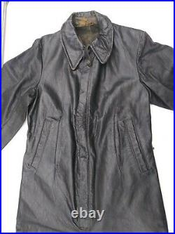 WWII Original German Leather Kriegsmarine/Luftwaffe Flight Suit Rare