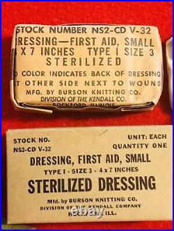WWII Rare! AAF Airborne ZIPPERED First-Aid Kit, Parachute, with Contents! Mint