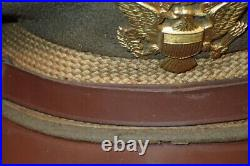 WWII US Army AAF Officers' Service Visor Hat Doeskin Early War 7 3/8 Orig. RARE