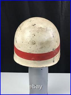 WWII US USMC USN MP GUARD BRIG M1 Helmet Liner Prisoner Military Police RARE