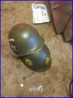 WWII WW2 US Second Indianhead ARMY HELMET With msa LINER. Very rare one of a kind