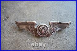 WWII rare named sterling pilot wings pin Air Crew bomber B-17