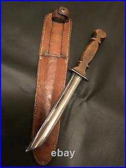 Ww2 Era Fighting Knife Made From M1860 CIVIL War Cavalery Saber Rare Type