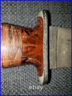 Ww2 Us 1940's Ka-bar Commando Fighting Knife Bakelite Leather Handle, Rare, Nos
