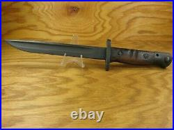 Wwi Wwii M1917 Winchester Fighting Knife Original Leather Scabbard USA Rare