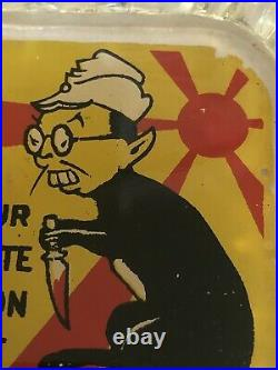 Wwii Anti-axis Ashtray, Tojo Nazi Rat, Rare Home Front Excellent